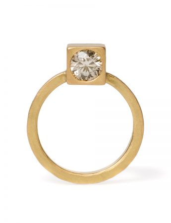 Monument Ring Two - Champagne Diamond
