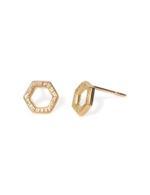 Water Frequency Stud Earrings – Yellow Gold