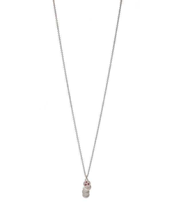 Beloved Assemblage Pendant Necklace – Silver & Ruby