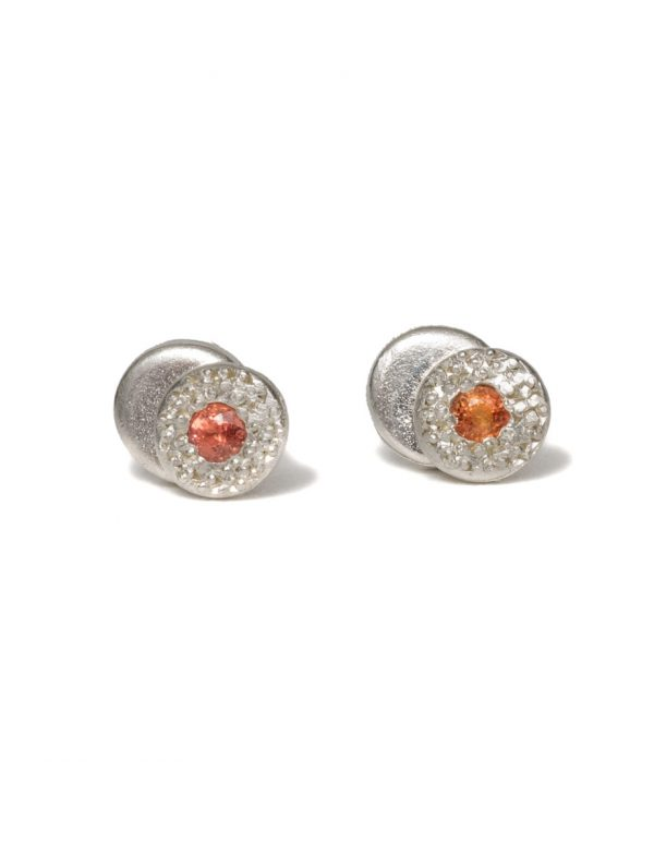 Beloved Assemblage Two Stack Silver Stud Earrings – Yellow Sapphires
