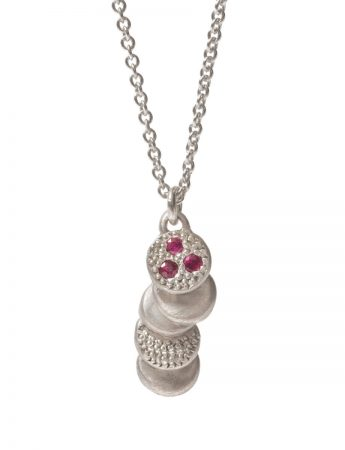 Beloved Assemblage Pendant Necklace - Silver & Ruby