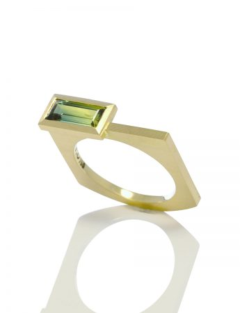 Cantilever Ring - Rectangle Sapphire