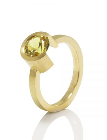 Intermittent Ring One - Yellow Sapphire