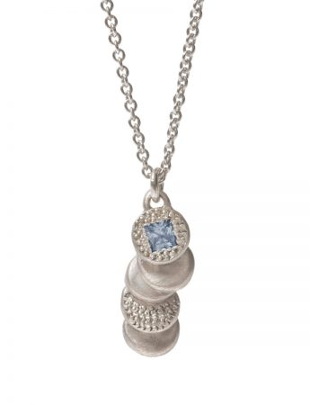 Beloved Assemblage Silver Pendant Necklace - Blue Sapphire