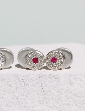 Beloved Assemblage Silver Two Stack Stud Earrings – Ruby