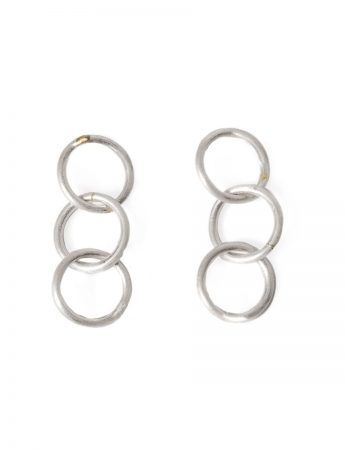 Anthem Three Earrings - Silver & Gold