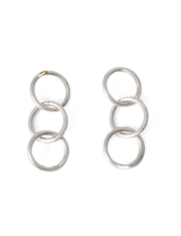 Anthem Three Earrings – Silver & Gold