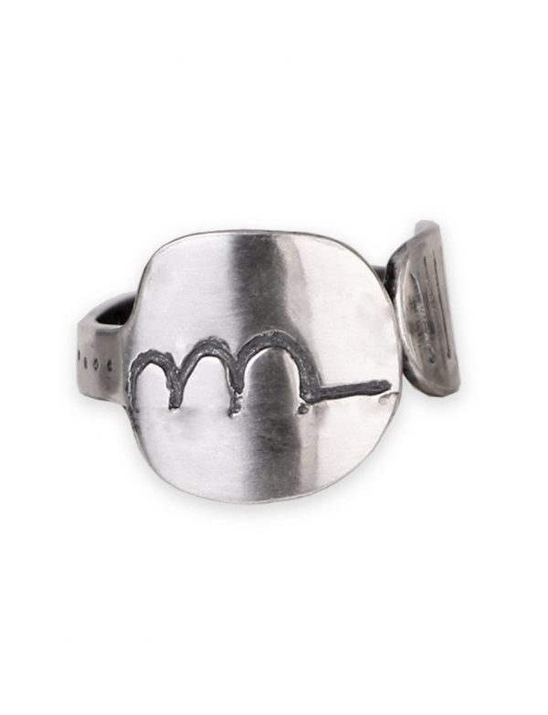 Three Hills Sterling Silver Adjustable Ring