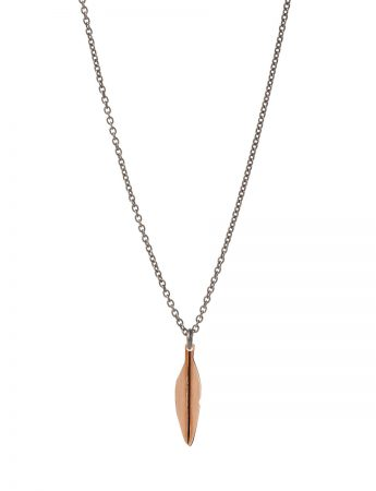 Small Eucalyptus Leaf Necklace - Rose Gold