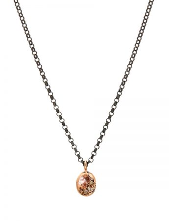 Glimmer Pendant Necklace - Rose Gold & Diamonds