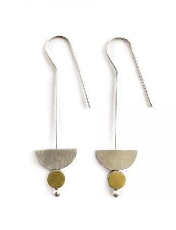 Hanging in the Balance Earrings - Silver & Gold