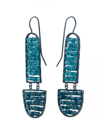 Reef Earrings - Blue Topaz & Sapphire