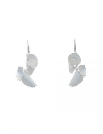 Small Calla Lily Earrings - Silver