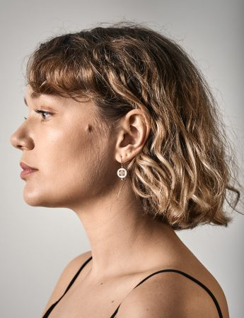 Within You Earrings – Silver & Gold