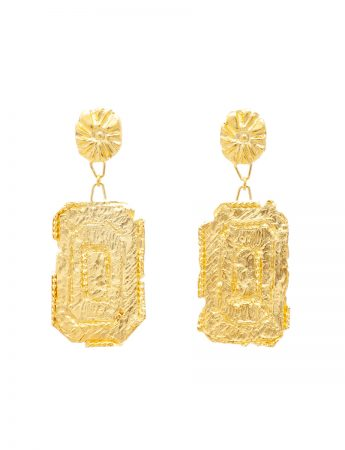 Zaida Earrings - Yellow Gold Plate