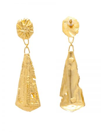 Zoraida Earrings - Yellow Gold Plate