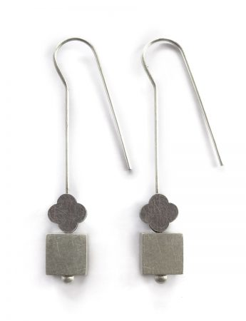 Flux Hook Earrings - Black & Silver