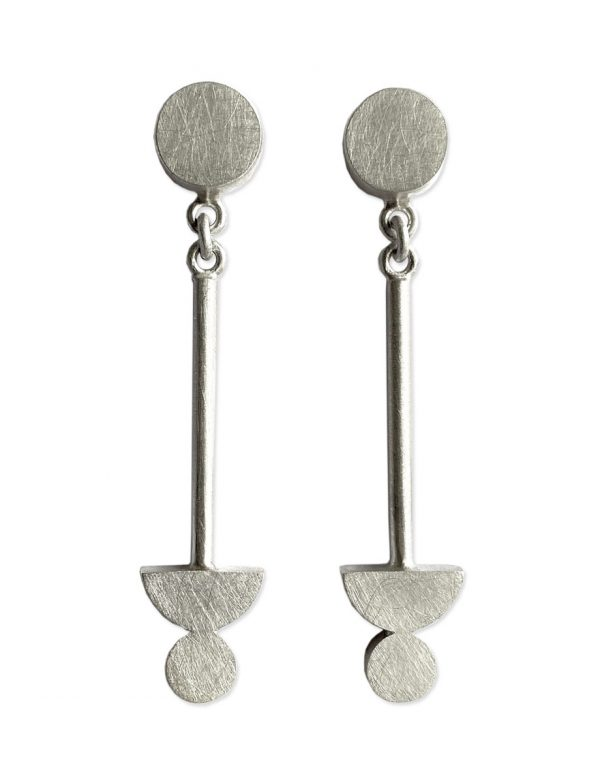 Matter of Balance Earrings  – Silver
