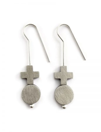 Turning Point Earrings - Silver