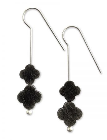 Turning Seasons Duo Earrings - Black