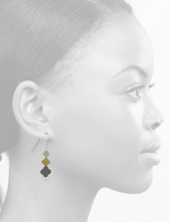 Turning Seasons Trio Earrings - Silver, Gold & Black