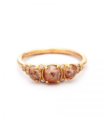 Arctic Autumn Ring - Icy Pink & White Diamonds
