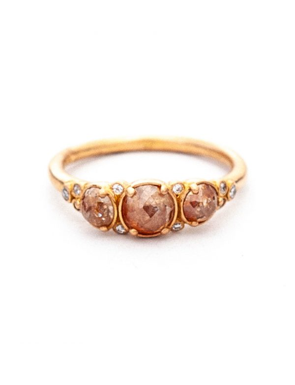 Arctic Autumn Ring – Icy Pink & White Diamonds