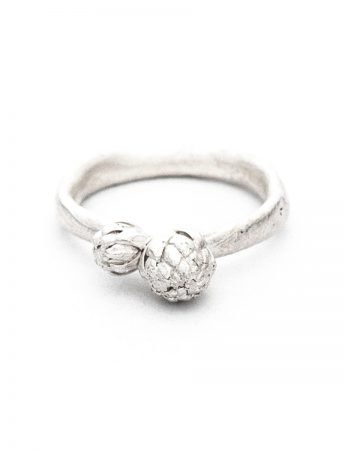 Beachcomber Norfolk Pine Double Top Ring - Silver