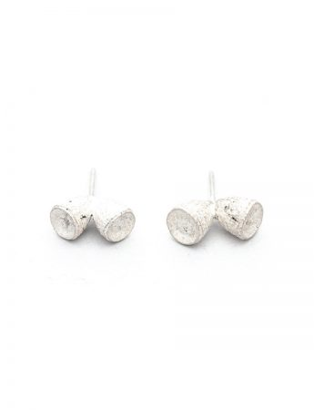 Bushwalker Double Gumnut Stud Earrings - Silver