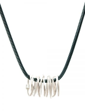Short Coil Pendant Necklace - Silver