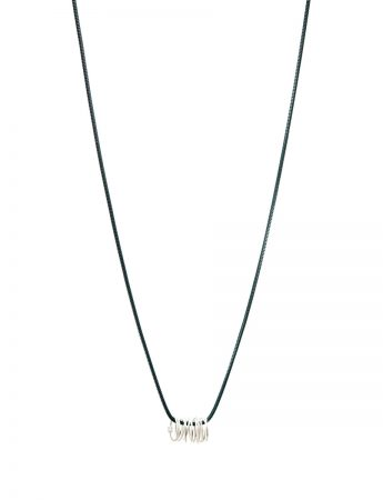 Long Coil Pendant Necklace - Silver