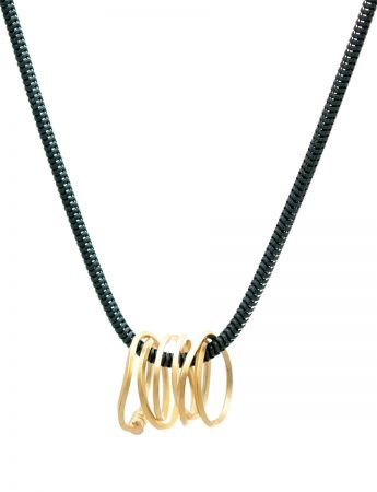 Short Coil Pendant Necklace - Yellow Gold