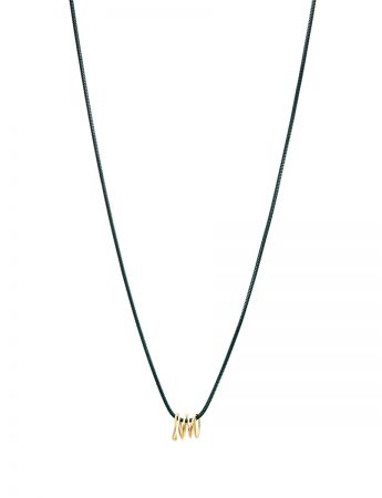Long Coil Pendant Necklace - Yellow Gold
