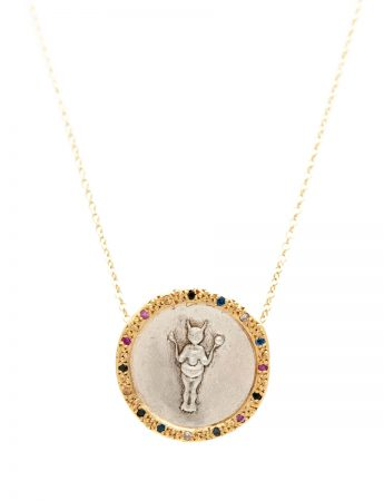 Divine Mojo Coin Necklace - Sapphires