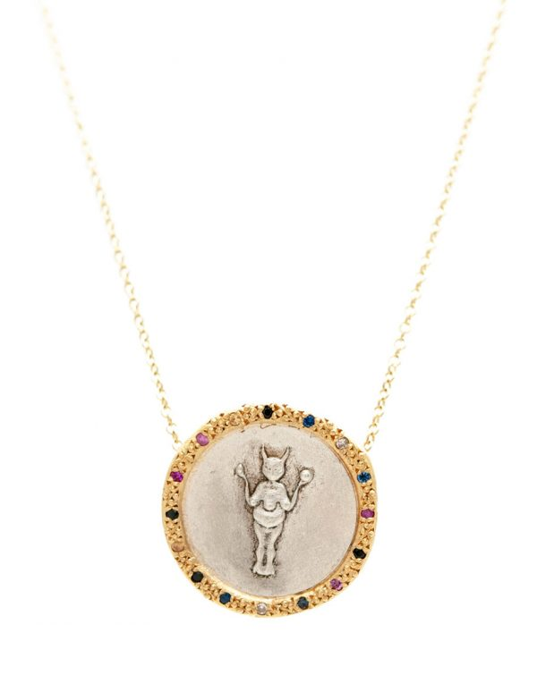 Divine Mojo Coin Necklace – Sapphires