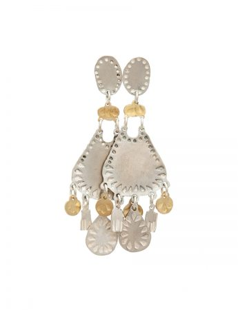 Droplet Dream Earrings - Silver & Gold