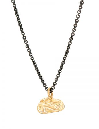 Egyptian Eye Pendant Necklace - Yellow Gold