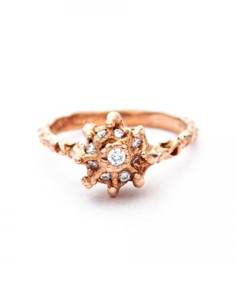 Frass Cake Ring - Rose Gold & Diamonds