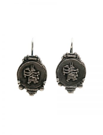 Goddess Of Protection Earrings - Black