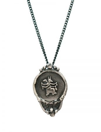 Goddess Of Protection Pendant Necklace - Black