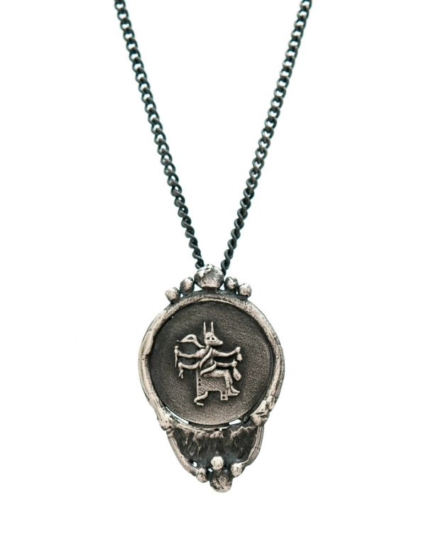 Goddess Of Protection Pendant Necklace – Black