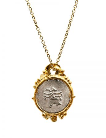 Goddess Of Protection Pendant Necklace - Silver & Gold