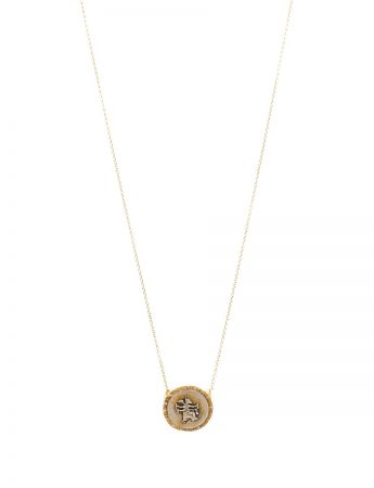 Goddess Of Protection Coin Necklace - Diamonds