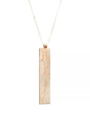 Grass Pendant Necklace - Rose Gold