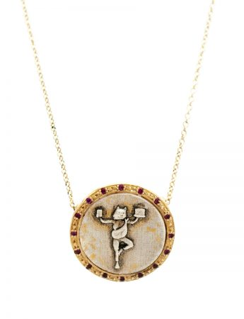 High Priestess Of Managing It All Coin Necklace - Rubies
