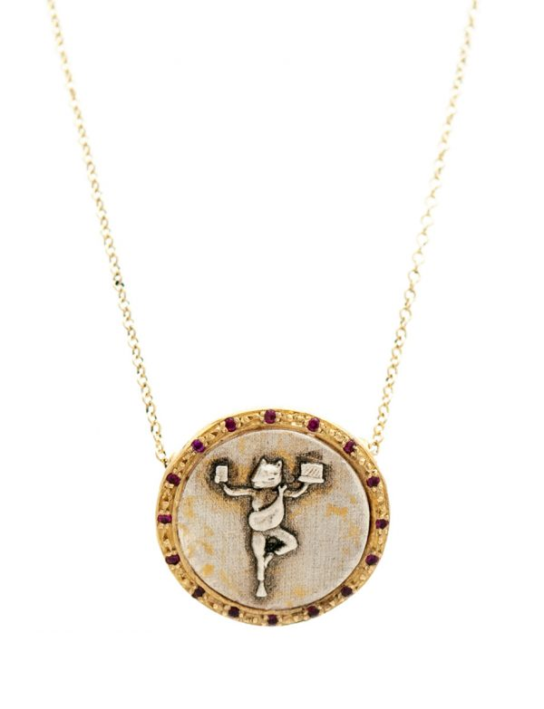 High Priestess Of Managing It All Coin Necklace – Rubies
