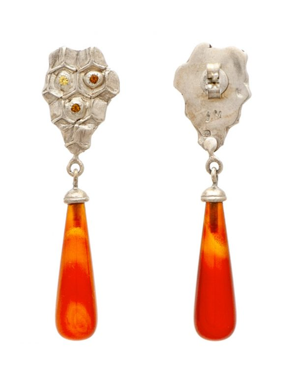 Honey Drop Carnelian Earrings