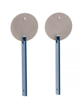 Inge Disc Earrings - Blue