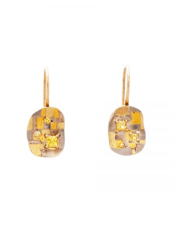 Inimitable Boundless Terrain Hook Earrings - Yellow Sapphires
