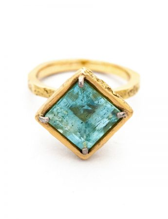 Isolde Ring - Yellow Gold & Aquamarine